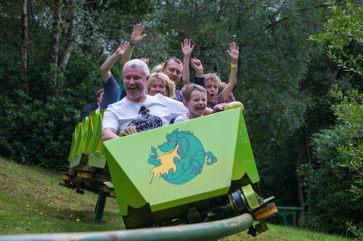 The Green Dragon Rollercoaster at Greenwood Forest Park